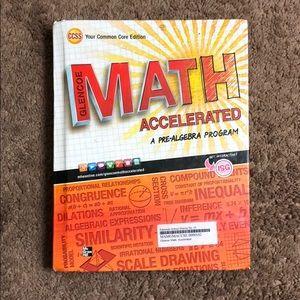 "Glencoe Math Accelerated ""A Pre-Algebra Program"""